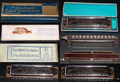 One Vintage The Bandmaster Chromatic Harmonica, Germany