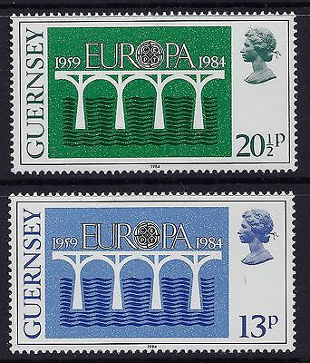 1984 Guernsey Europa Set Of 2 Fine Mint Mnh/muh