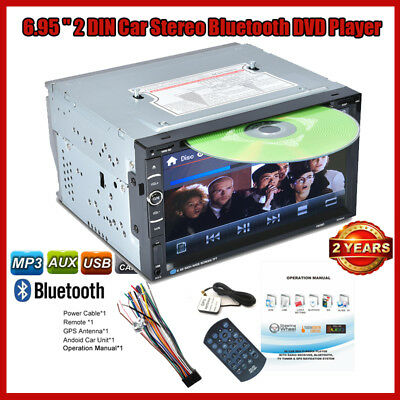 2DIN 6.95''Auroradio Car Stereo DVD MP3 Lettore Touch Bluetooth GPS/FM/AUX-IN IT