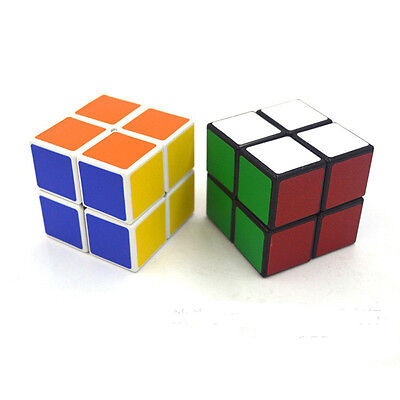 Transformable 2x2x2 Magic Cube Toy Speed Puzzle Twist White Black Base Kid Race