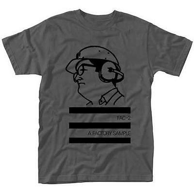 Factory Records - A Factory Sample Grey Mens Short Sleeve Cotton T-Shirt - New