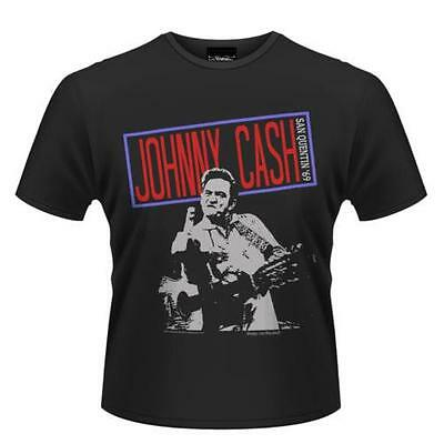 Johnny Cash - San Quentin 69 Mens Short Sleeve Cotton T-Shirt - New & Official