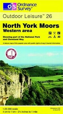 North York Moors: Western Area (Outdoor ... by Ordnance Survey Sheet map, folded