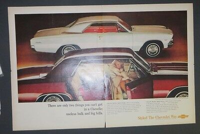 Original Magazine Ad 1960 Chevrolet Malibu Sport Coupe Sport Print Auto Photo