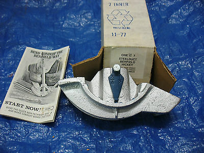"""BENFIELD CONDUIT BENDER HICKEY NO 7  3/4"""" and 1/2"""" Rigid Conduit NEW Old Stock"""