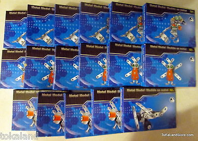 E3 Metal Model Kits Stainless lot of 17 (Planes,Frogs Bugs)