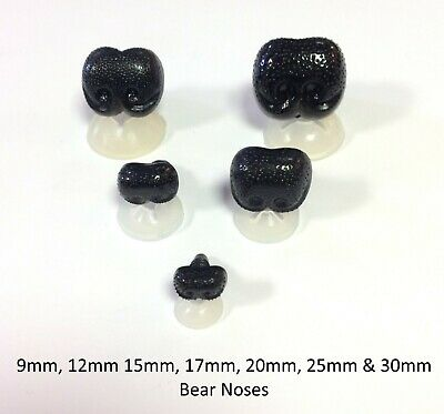 DOG / ANIMAL NOSES with PLASTIC BACKS - Character Safety Nose for Soft Toys