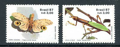 Brazil 1987 Insects Set Mint Never Hinged Complete!
