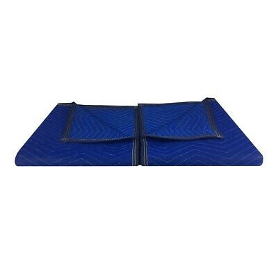 "uBoxes Pro Economy Moving Blankets (2 Pack) 72""x80"" Blue 35lbs/doz 2.92lb/ea"