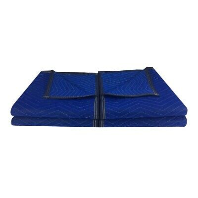 "Pro Economy Moving Blankets (4 Pack) 35lbs/doz 2.92lb/ea 72""x80"" Blue"