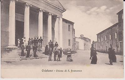 Oristano Chiesa Di San Francesco Animata 1909 Super !
