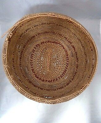 "Native American Weave Large Basket Bowl. Nice Design. Approx 12.5"" D & 6"" T"