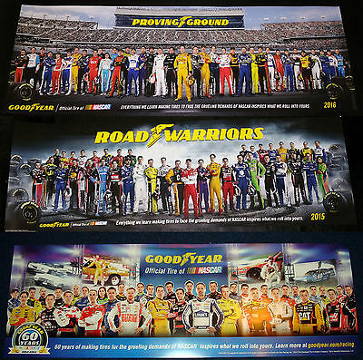 Nascar Goodyear Poster Class Of 2014 2015 & 2016 Set Of 3 Posters New Limited