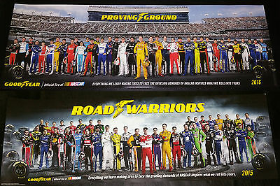 Nascar Goodyear Poster New Class Of 2015 & 2016 Set Of 2 Posters Limited Edition