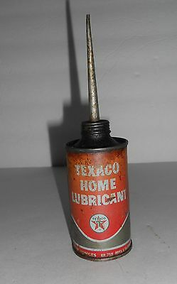 TEXACO HOME LUBRICANT Oil Can star logo 3oz size with tall spout Vintage!