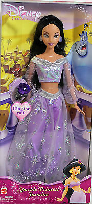 Aladdin Jasmine Sparkle Princess Barbie 2004, MIB NRFB - 18422