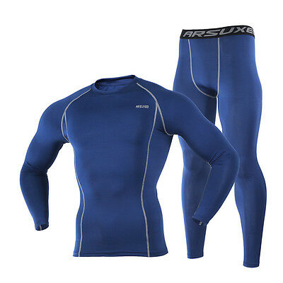 Mens Cycling Bicycle Compression Base Layer Tights Shirt Pants Suits Tracksuit