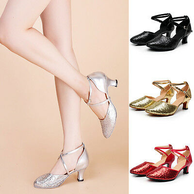 Women Girl lady's Ballroom Tango Latin Dance Dancing Shoes heeled Salsa