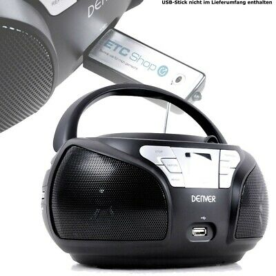 Tragbare Musik Anlage Stereo Radio CD Player USB Slot LCD Display beleuchtet MP3