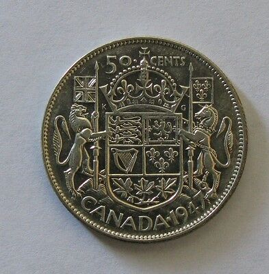 1947 50C Straight 7 Canada 50 Cents *XF*