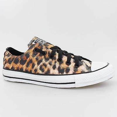 Converse All Star Chucks Ox Black Schwarz Braun Leopard Schuhe 148271F