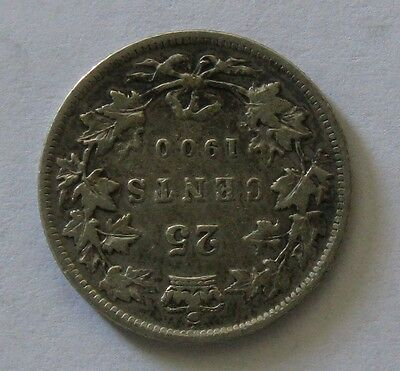 1900 25C Canada 25 Cents