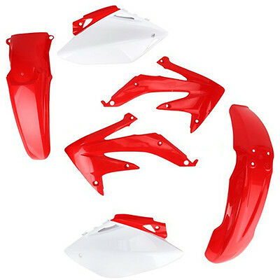 Kit Plastiche Carenature Acerbis Rosse Bianche Per Honda Crf 450 R 2005 2006