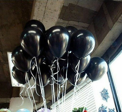 Wholesale 20-100Pcs Black Latex Round Balloons Wedding Birthday Party Decoration