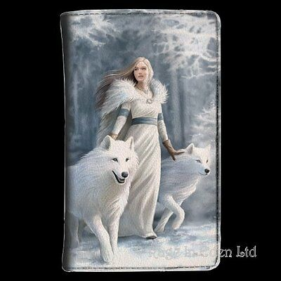 *WINTER GUARDIANS* Fantasy White Wolf Art Purse By Anne Stokes
