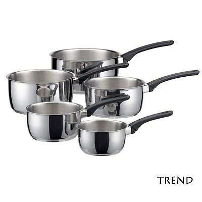 Serie de 5 casseroles Trend inox tous feux induction