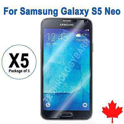 5x Ultra Clear Screen Protector For Samsung Galaxy S5 Neo