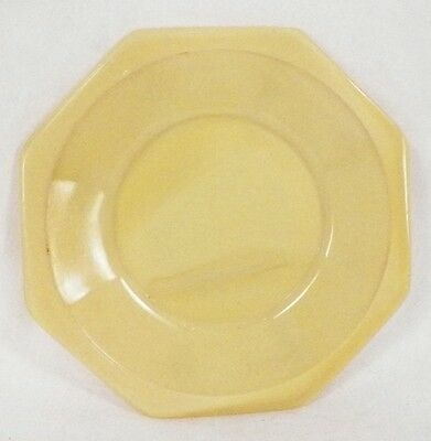 Yellow Akro Agate Octagonal Plate fr Childs Tea Set American Maid Small Vintage