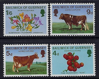1970 Guernsey Agriculture Set Of 4 Fine Mint Mnh/muh