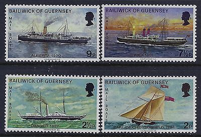 1972 Guernsey Mail Boats Part 1 Set Of 4 Fine Mint Mnh/muh