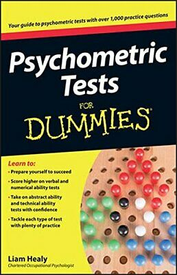 Psychometric Tests For Dummies by Healy, Liam Paperback Book The Cheap Fast Free