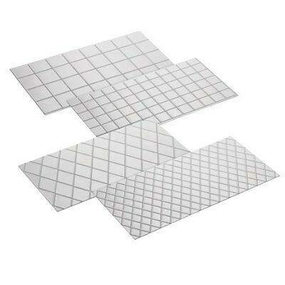NEW Cake Boss Decorating Tools 4-Piece Quilted Fondant Imprint Mat Set - Clear