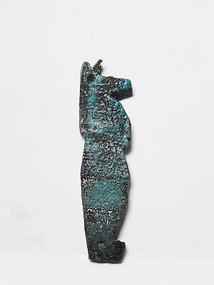Zurqieh -Q257- Ancient Egypt , Faience Son Of Horus Amulet  . 600 - 300 B.c