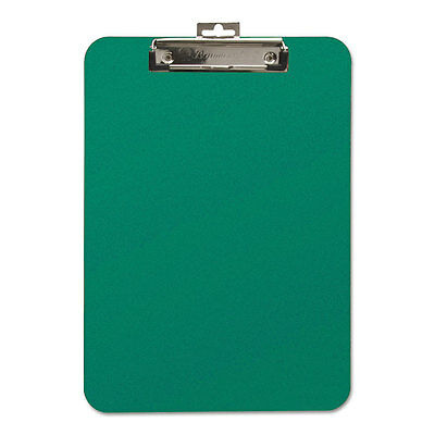 Unbreakable Recycled Clipboard, 1/4 Capacity, 8 1/2 x 11, Green