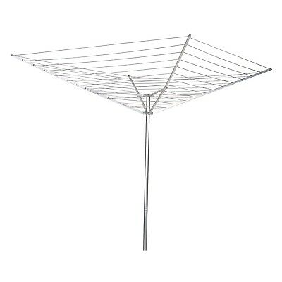 Household Essentials 12-Line Outdoor Umbrella-Style Clothes Dryer, Silver | 1600