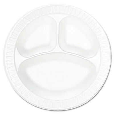 Concorde Foam Plate, Compartmented, 10 1/4 dia, WE, 125/Pack, 4 Packs/Carton