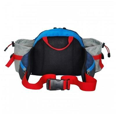 Everest BH17-NY-BL-GRY Outdoor Waist Pack With Bottle Holders Navy, Blue & Gray