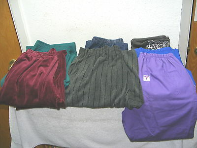 Women's Lot of 6 pair of Pants - Yoga, stretch jeans, sweats, Scrubs etc..