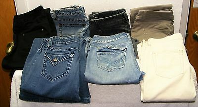 Women's Lot of 7 Pair  Kids and/Or Teens Jeans Pants - YASO, L.E.I., Tommy Hilfi