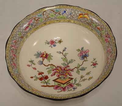 Royal Worcester Bowl in a Chinese Garden Style Pattern No CR166 Crown Ware 1924
