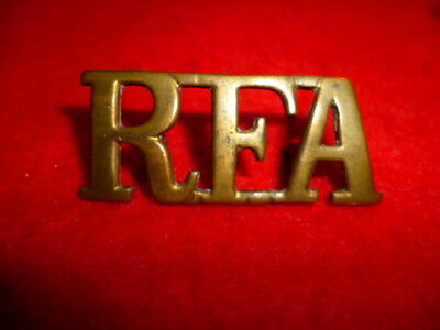 The Royal Field Artillery Brass Shoulder Title