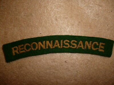 The Reconnaissance Corps WW2 Cloth Shoulder Title / Flash - Genuine