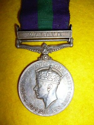 """General Service Medal 1918 Clasp """"Malaya"""" to The King's African Rifles"""