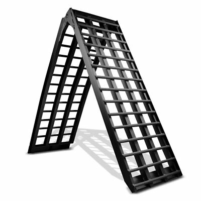 Motorcycle Aluminium black Ramp Heavy Duty, max. 680 kg, Motorbike Ramp, folding