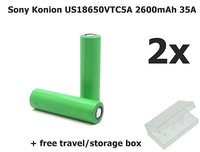 2x Sony Konion US18650VTC5A 2600mAh 35A NK078 GB