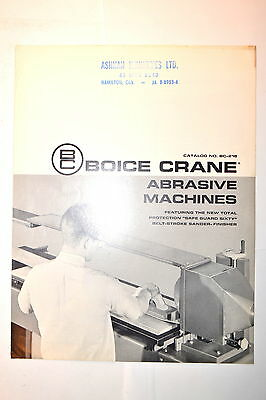 BOICE CRANE ABRASIVE MACHINES CATALOG No. BC-21B #RR818 sanders finishers